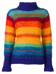 Kansai Yamamoto Pre-Owned rainbow knit jumper - Multicolour