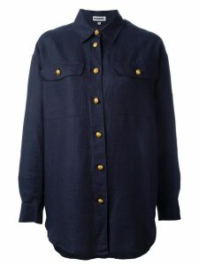 Jil Sander Pre-Owned oversized shirt - Blue