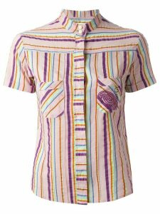 Romeo Gigli Pre-Owned striped shirt - PINK