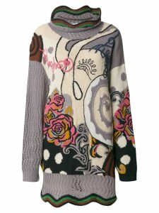Kansai Yamamoto Pre-Owned floral embroidered knitted jumper -