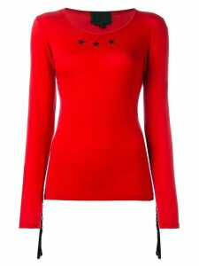 Jean Paul Gaultier Pre-Owned star fringed top - Red