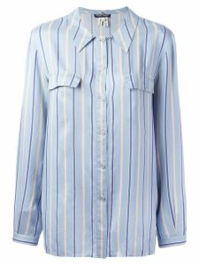 Giorgio Armani Pre-Owned striped shirt - Blue