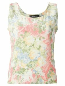 Jean Louis Scherrer Pre-Owned floral print tank top - Multicolour