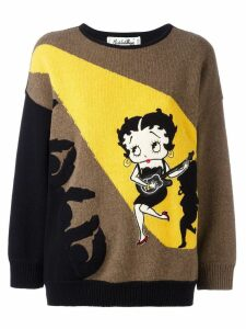 JC de Castelbajac Pre-Owned Betty Boop intarsia sweater - Brown