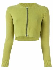 Romeo Gigli Pre-Owned cropped cardigan - Green