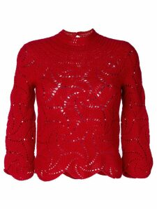 Comme Des Garçons Pre-Owned crochet sweater - Red