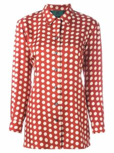 Jean Paul Gaultier Pre-Owned dotted vest panel shirt - Red