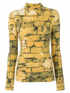 Jean Paul Gaultier Pre-Owned Bricks print top - Yellow