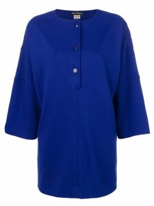 Salvatore Ferragamo Pre-Owned structured knitted top - Blue