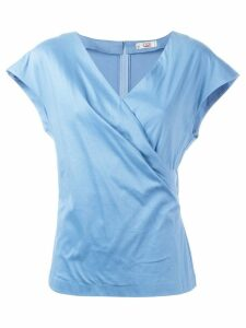 Christian Dior pre-owned wrap top - Blue