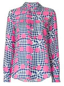 Comme Des Garçons Pre-Owned flowers and dots print shirt - PINK