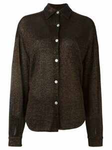 Jean Paul Gaultier Pre-Owned metallic knit shirt - Brown