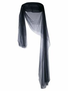 Romeo Gigli Pre-Owned draped sheer top - Blue