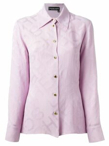 Jean Louis Scherrer Pre-Owned jacquard shirt - Pink