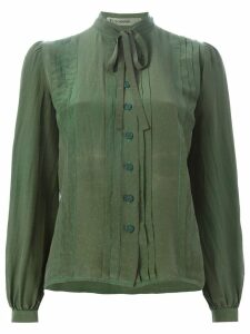 Jean Louis Scherrer Pre-Owned pussy bow shirt - Green