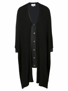 JC de Castelbajac Pre-Owned two tone buttoned cardigan - Black