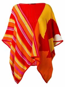 Kansai Yamamoto Pre-Owned striped patterned poncho - Multicolour