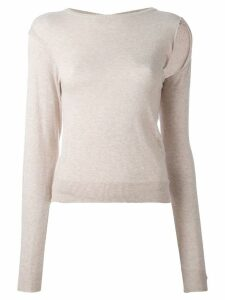 Maison Martin Margiela Pre-Owned deconstructed top - Neutrals