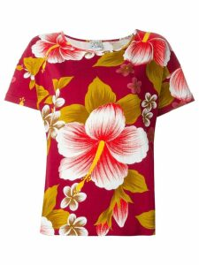 Kenzo Pre-Owned hibiscus print T-shirt - Red
