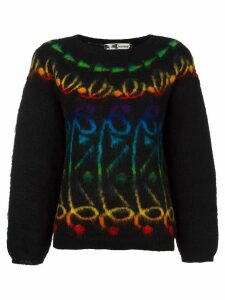 Kansai Yamamoto Pre-Owned patterned knit jumper - Black