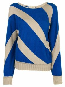 Krizia Pre-Owned striped jumper - Neutrals