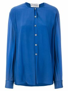 Gianfranco Ferré Pre-Owned collarless shirt - Blue