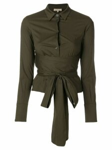 Romeo Gigli Pre-Owned belted waist shirt - Green