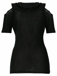Yohji Yamamoto Pre-Owned cut out shoulder blouse - Black