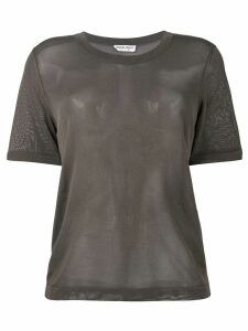 Giorgio Armani Pre-Owned crew neck T-shirt - Brown