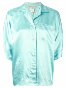 Kenzo Pre-Owned notched collar shirt - Blue