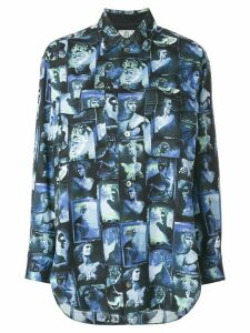 Jean Paul Gaultier Pre-Owned loose photo print shirt - Blue