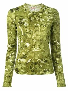Jean Paul Gaultier Pre-Owned baby print top - Green