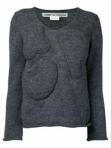 Comme Des Garçons Pre-Owned bump knit - Grey