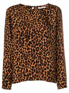 Yves Saint Laurent Pre-Owned leopard-print blouse - Brown