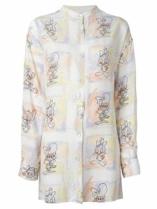 JC de Castelbajac Pre-Owned cartoon printed shirt - White
