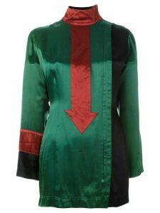 Jean Paul Gaultier Pre-Owned arrow appliqué long top - Green