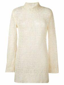 Comme Des Garçons Pre-Owned open knit jumper - Neutrals