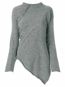 Comme Des Garçons Pre-Owned asymmetric knitted blouse - Grey