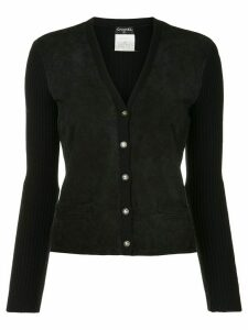 Chanel Pre-Owned quilted buttoned cardigan - Black