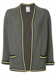 Chanel Pre-Owned striped pattern cardigan - Grey