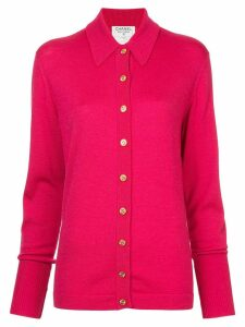 Chanel Pre-Owned classic collar buttoned cardigan - Pink