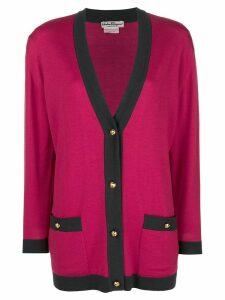 Salvatore Ferragamo Pre-Owned knitted v-neck cardigan - PINK