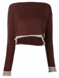 Comme Des Garçons Pre-Owned 1991 asymmetric knitted blouse - Brown