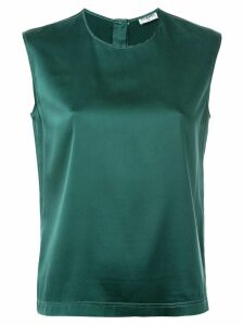 Chanel Pre-Owned classic sleeveless top - Green
