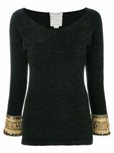 Christian Dior Pre-Owned Chinille blouse - Black