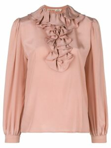 Valentino Pre-Owned ruffle neck blouse - Pink