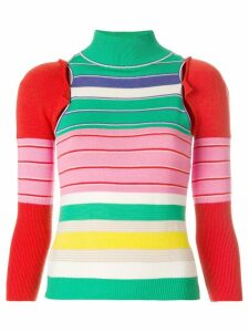 John Galliano Pre-Owned removable sleeves knitted blouse - Multicolour