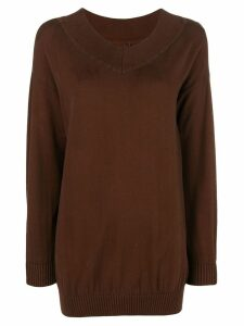 Romeo Gigli Pre-Owned loose fit sweater - Brown