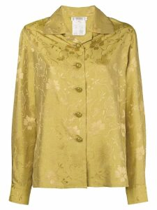Yves Saint Laurent Pre-Owned 1980's floral jacquard open collar shirt
