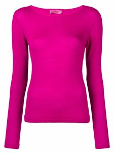 Yves Saint Laurent Pre-Owned 1980's boat neck top - PINK